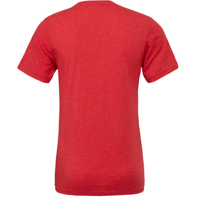 Red Triblend - Back - Canvas Mens Triblend Crew Neck Plain Short Sleeve T-Shirt