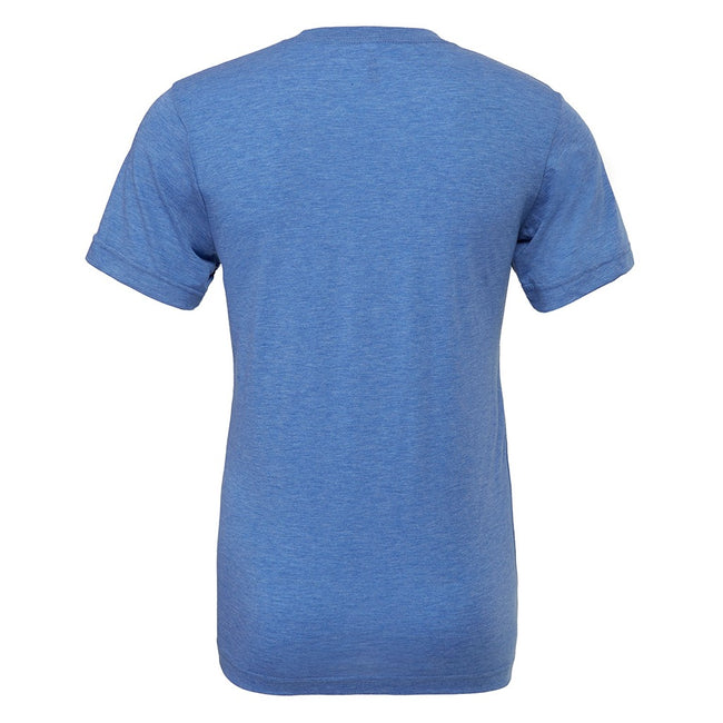 Teal Triblend - Front - Canvas Mens Triblend Crew Neck Plain Short Sleeve T-Shirt