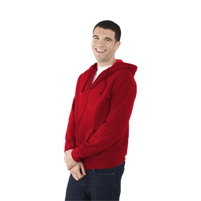 Fuchsia - Side - Fruit Of The Loom Mens Lightweight Full Zip Jacket - Hoodie