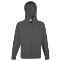 Kelly Green - Front - Fruit Of The Loom Mens Lightweight Full Zip Jacket - Hoodie
