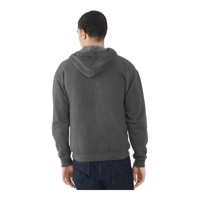 Heather Grey - Front - Fruit Of The Loom Mens Lightweight Full Zip Jacket - Hoodie