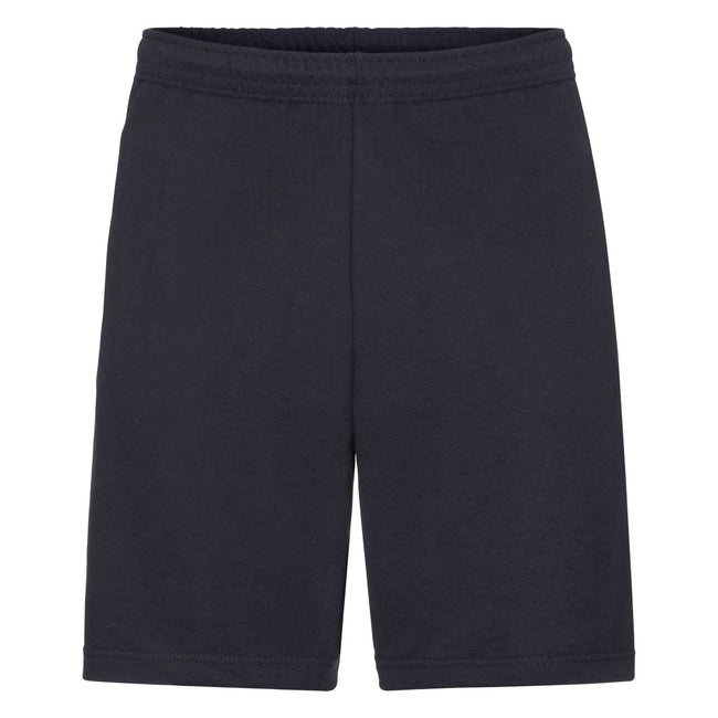 Deep Navy - Front - Fruit Of The Loom Mens Lightweight Casual Fleece Shorts (240 GSM)