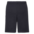 Deep Navy - Side - Fruit Of The Loom Mens Lightweight Casual Fleece Shorts (240 GSM)