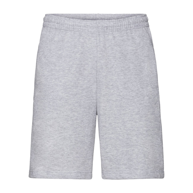 Heather Grey - Front - Fruit Of The Loom Mens Lightweight Casual Fleece Shorts (240 GSM)