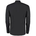 Black - Back - Kustom Kit Mens Slim Fit Long Sleeve Business - Work Shirt