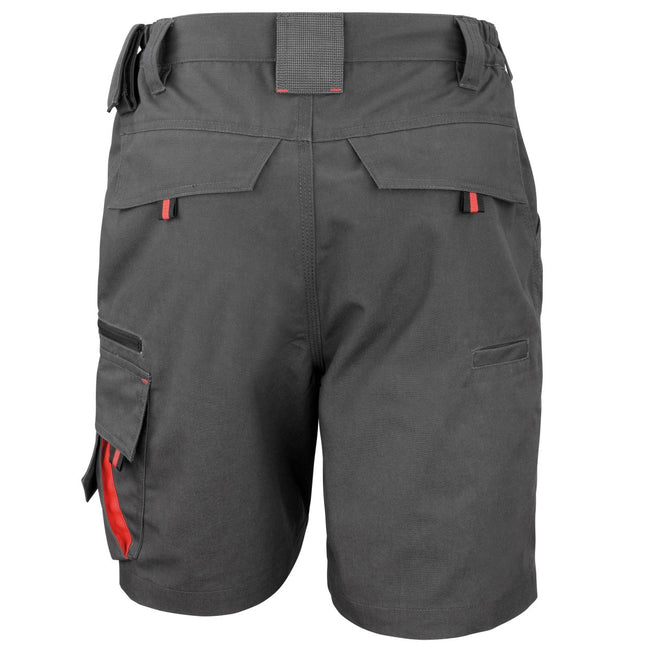 Grey-Black - Back - Result Workguard Unisex Technical Work Shorts