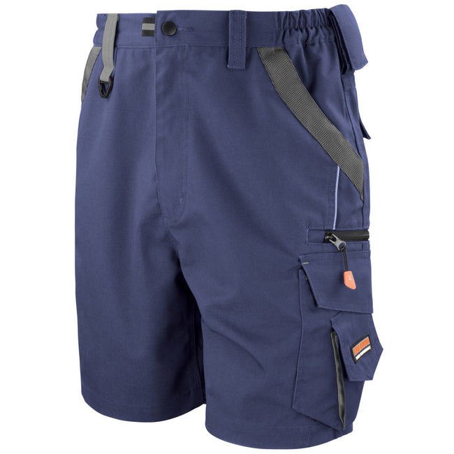 Navy-Black - Front - Result Workguard Unisex Technical Work Shorts
