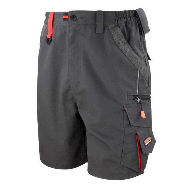Grey-Black - Front - Result Workguard Unisex Technical Work Shorts