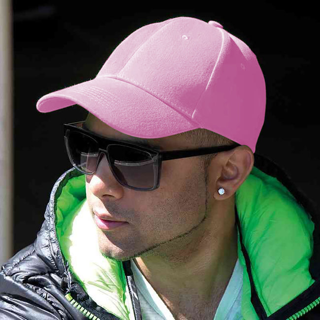Pink - Back - Result Unisex Core Memphis 6 Panel Baseball Cap
