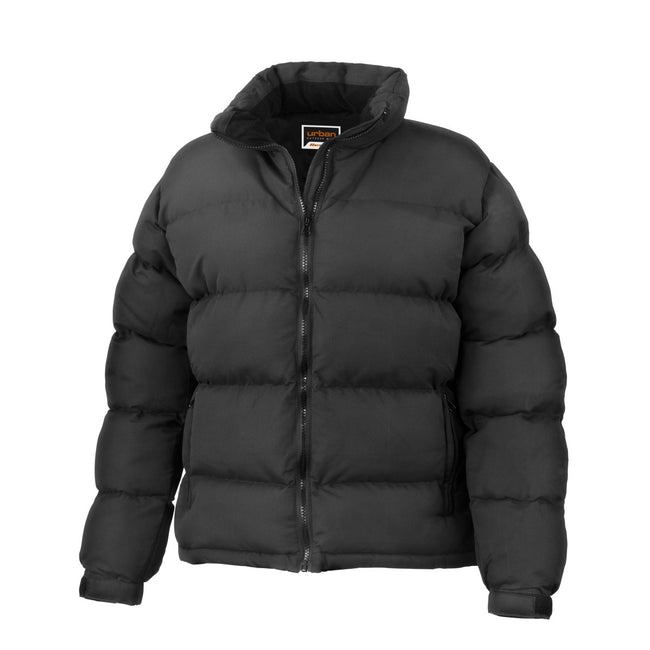 Black - Front - Result Womens-Ladies Urban Outdoor Holkham Down Feel Performance Jacket