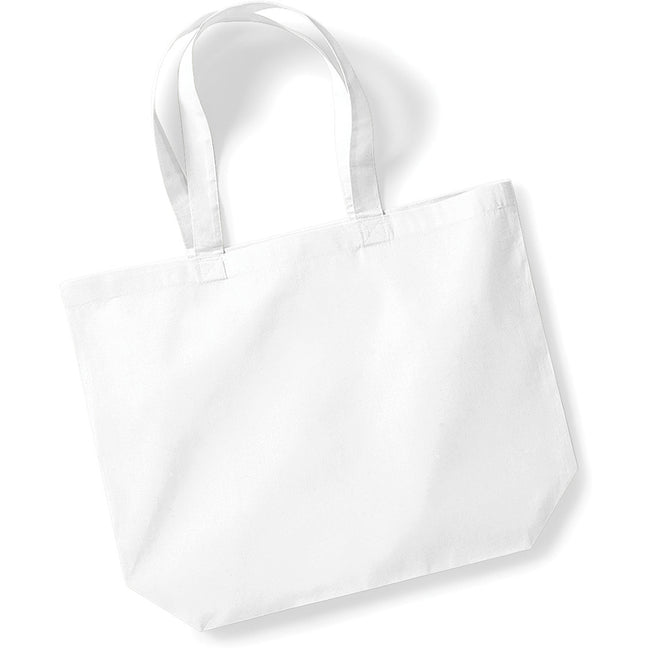 White - Front - Westford Mill Maxi Tote-Shopper Bag For Life