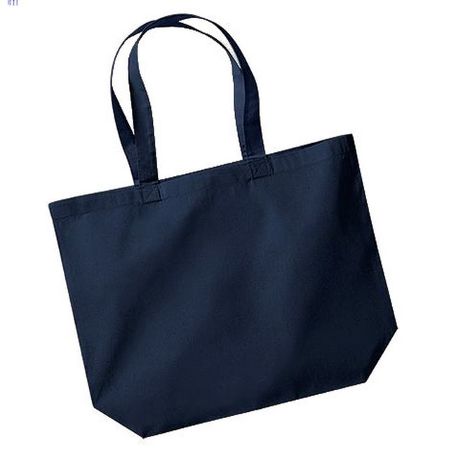 French Navy - Front - Westford Mill Maxi Tote-Shopper Bag For Life