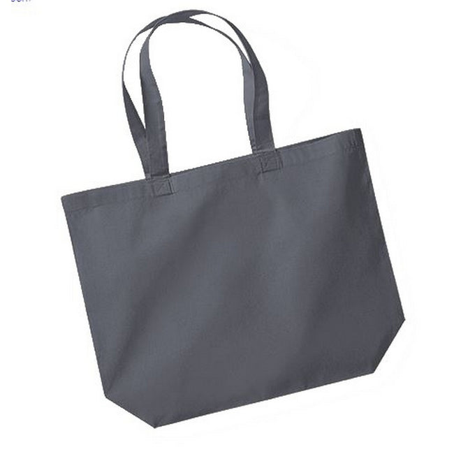 Graphite - Front - Westford Mill Maxi Tote-Shopper Bag For Life