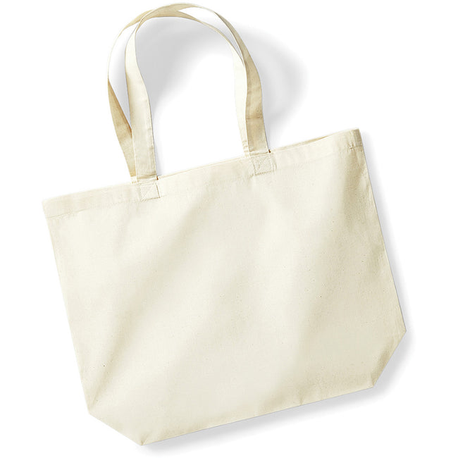Natural - Front - Westford Mill Maxi Tote-Shopper Bag For Life