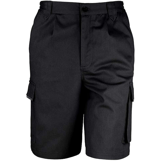 Navy Blue - Front - Result Unisex Work-Guard Action Shorts - Workwear