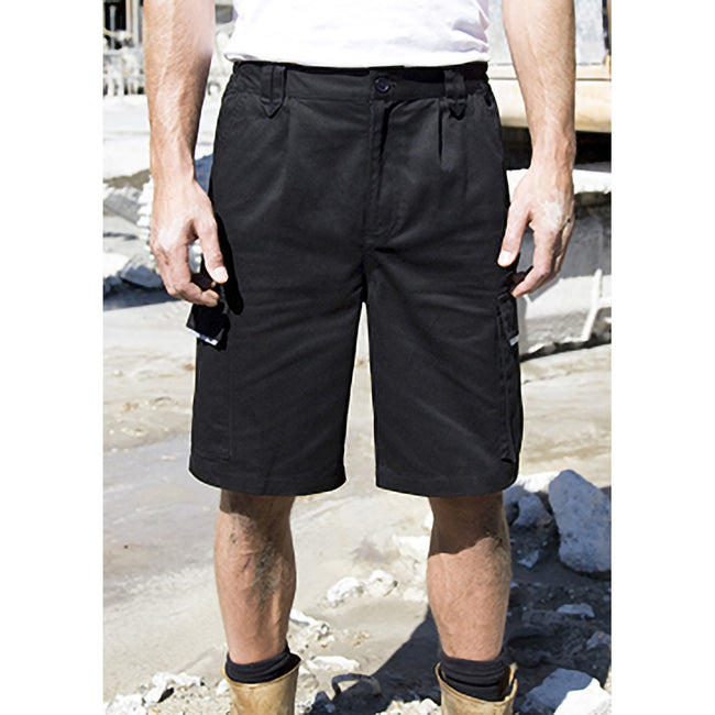 Black - Front - Result Unisex Work-Guard Action Shorts - Workwear