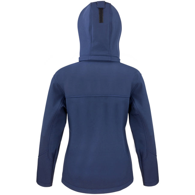 Navy-Royal - Back - Result Core Womens-Ladies Lite Hooded Softshell Jacket