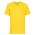 Yellow - Front - Fruit Of The Loom Childrens-Kids Unisex Valueweight Short Sleeve T-Shirt