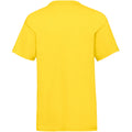 Yellow - Back - Fruit Of The Loom Childrens-Kids Unisex Valueweight Short Sleeve T-Shirt