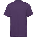 Purple - Back - Fruit Of The Loom Childrens-Kids Unisex Valueweight Short Sleeve T-Shirt