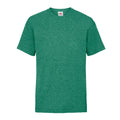 Retro Heather Green - Front - Fruit Of The Loom Childrens-Kids Unisex Valueweight Short Sleeve T-Shirt