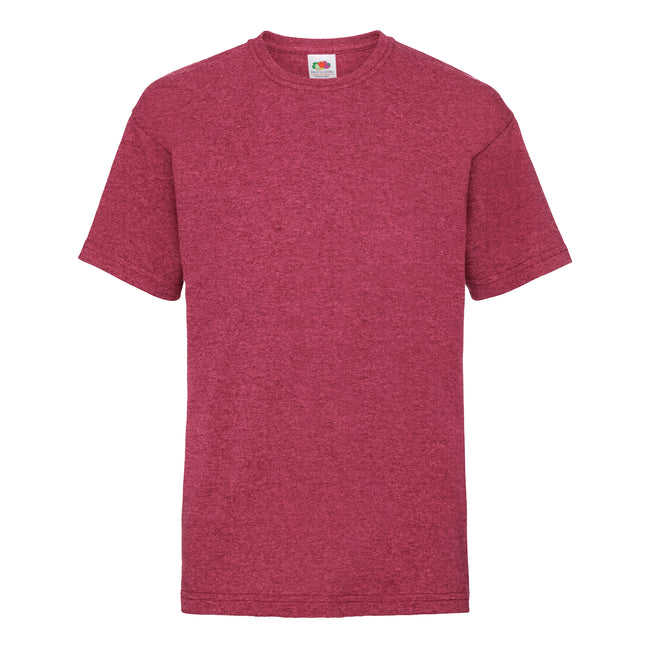 Vintage Heather Red - Front - Fruit Of The Loom Childrens-Kids Unisex Valueweight Short Sleeve T-Shirt