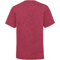 Vintage Heather Red - Back - Fruit Of The Loom Childrens-Kids Unisex Valueweight Short Sleeve T-Shirt