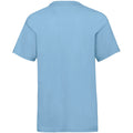 Sky Blue - Back - Fruit Of The Loom Childrens-Kids Unisex Valueweight Short Sleeve T-Shirt