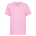 Light Pink - Front - Fruit Of The Loom Childrens-Kids Unisex Valueweight Short Sleeve T-Shirt