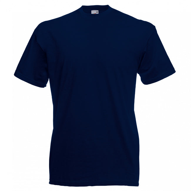 Deep Navy - Front - Fruit Of The Loom Mens Valueweight Short Sleeve T-Shirt