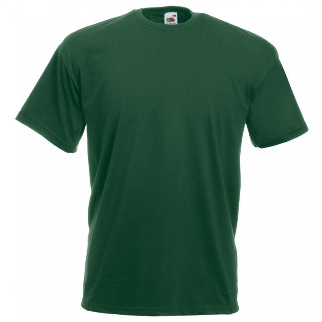 Bottle Green - Front - Fruit Of The Loom Mens Valueweight Short Sleeve T-Shirt