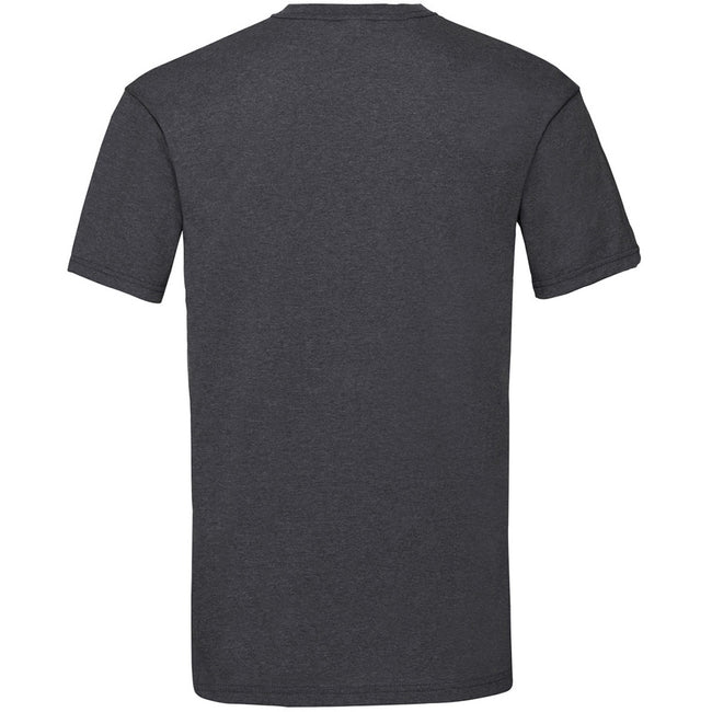 Dark Heather - Back - Fruit Of The Loom Mens Valueweight Short Sleeve T-Shirt