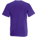 Purple - Back - Fruit Of The Loom Mens Valueweight Short Sleeve T-Shirt
