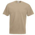 Khaki - Front - Fruit Of The Loom Mens Valueweight Short Sleeve T-Shirt