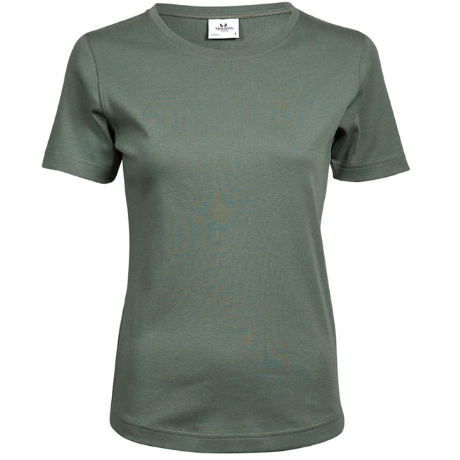 White - Front - Tee Jays Womens-Ladies Interlock Short Sleeve T-Shirt
