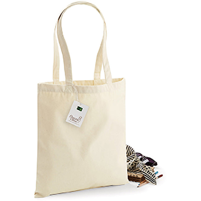 Black - Front - Westford Mill EarthAware Organic Bag For Life (10 Litres)