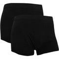 Black - Side - Fruit Of The Loom Mens Classic Shorty Cotton Rich Boxer Shorts (Pack Of 2)