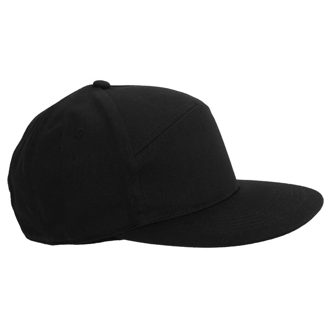 Black - Front - Beechfield Adults Unisex Pitcher Snapback Cap