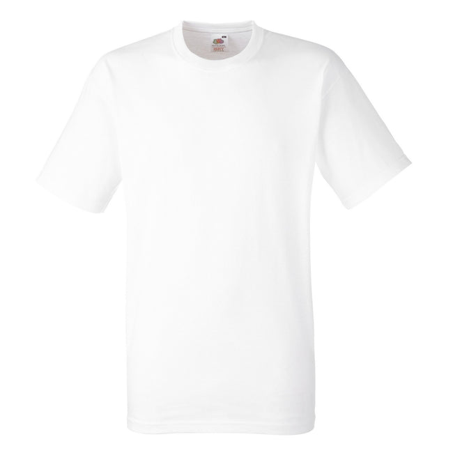 White - Front - Fruit Of The Loom Mens Heavy Weight Belcoro® Cotton Short Sleeve T-Shirt