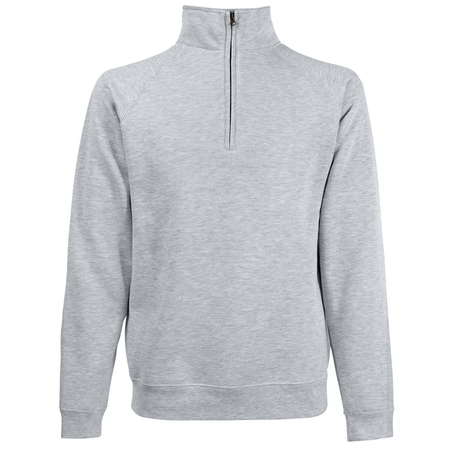 Royal - Front - Fruit Of The Loom Mens Zip Neck Sweatshirt