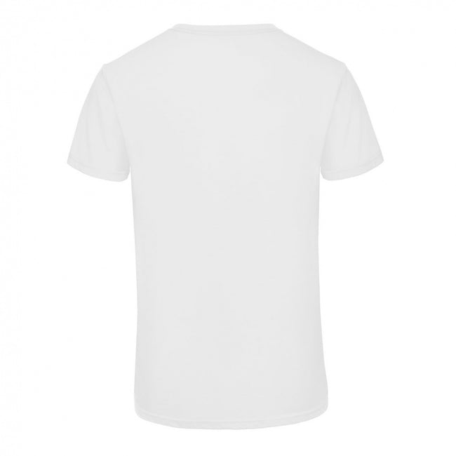 White - Front - B&C Mens Favourite Triblend V-Neck T-Shirt