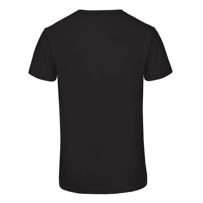 Heather Navy - Front - B&C Mens Favourite Triblend V-Neck T-Shirt