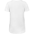 White - Back - B&C Womens-Ladies Favourite Cotton Triblend V-Neck T-Shirt