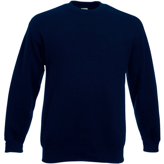 Deep Navy - Front - Fruit Of The Loom Mens Set-In Belcoro® Yarn Sweatshirt