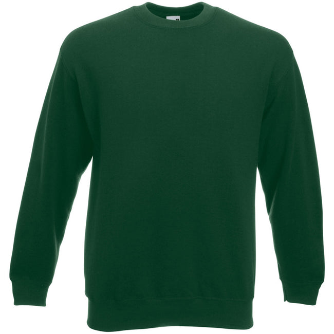 Bottle Green - Front - Fruit Of The Loom Mens Set-In Belcoro® Yarn Sweatshirt