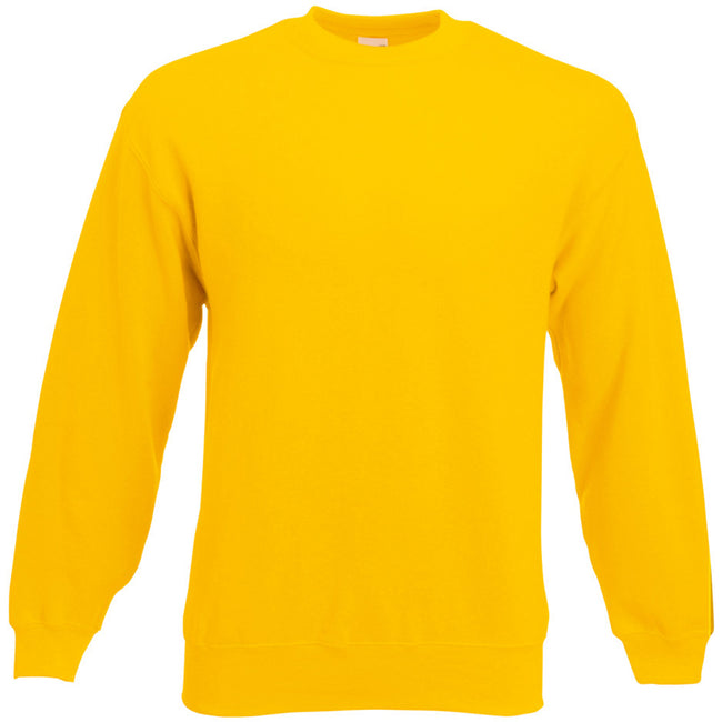 Sunflower - Front - Fruit Of The Loom Mens Set-In Belcoro® Yarn Sweatshirt