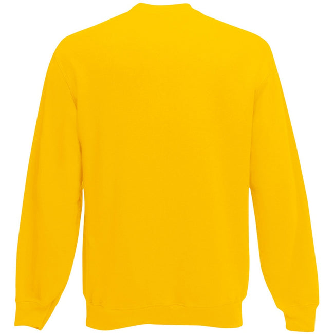 Sunflower - Back - Fruit Of The Loom Mens Set-In Belcoro® Yarn Sweatshirt