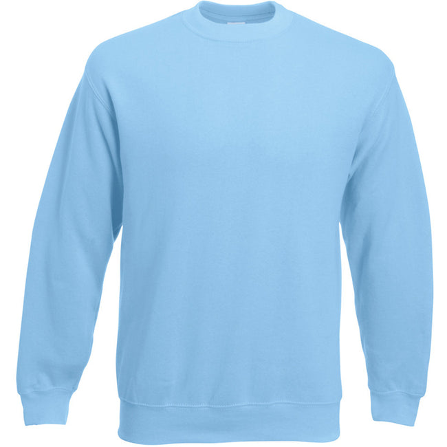 Sky Blue - Front - Fruit Of The Loom Mens Set-In Belcoro® Yarn Sweatshirt