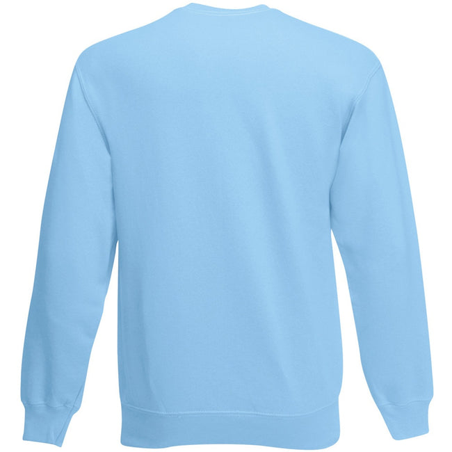 Sky Blue - Back - Fruit Of The Loom Mens Set-In Belcoro® Yarn Sweatshirt