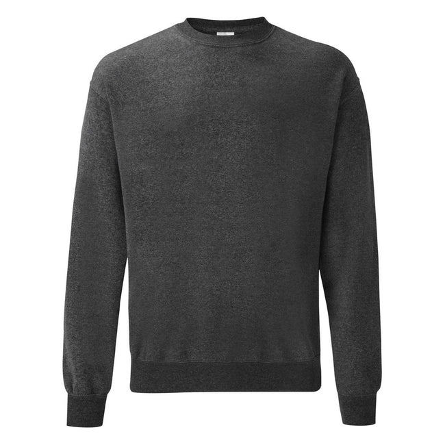 Dark Heather - Front - Fruit Of The Loom Mens Set-In Belcoro® Yarn Sweatshirt